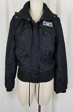 Vero Moda Arctic Explorer Black Bingo Short Jacket Parka Womens M Knit Trim Snow