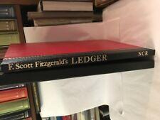 F. SCOTT FITZGERALD'S LEDGER limited edition in slipcase 1972