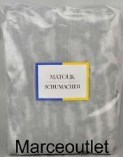 Matouk Schumacher Serengeti Cotton Sateen King Pillow sham Silver