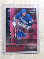 09-10 UD Black Diamond RC Quad Rookie Gems Ruby MICHAEL DEL ZOTTO /100