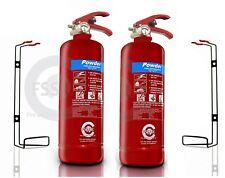 2 x 2 KG DRY POWDER ABC FIRE EXTINGUISHER HOME OFFICE CAR VANS KITCHEN