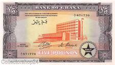 Ghana 5 Pounds 1962 Unc 3d