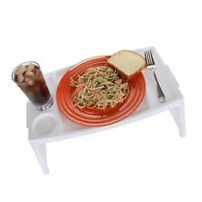 Lap Table Serving Tray With Foldable Legs  Folding Breakfast in Bed Serving T...