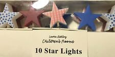 Laura Ashley  red white blue star lights childs bedroom, need European adapter!