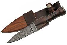 """Celtic Scottish - Genuine Damascus Sgian Skean Dubh Dirk Dagger 9.5"""" Knife"""