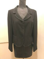 Jones New York Suit Women's Dark Blue With Small White Dots Jacket, Size 10P