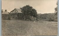 Springfield VT Country Home RPPC Antique Vermont Photo—Windsor County 1909