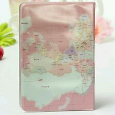 Novelty Plastic World Map Passport Case Money Credit Card Cover Holder Travel