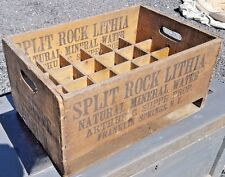 1930 SPLIT ROCK LITHIA Water Bottle Wood Shipping Box Crate FRANKLIN SPRINGS NY