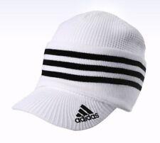 Adidas Hats 3 Way Knit Cap N68307 White Winter Sports Beanie Golf Visor_NK