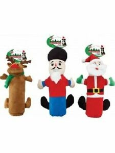 """SPOT ETHICAL HOLIDAY THICK SKINS 10"""" DURABLE BOTTLE DOG TOY. LOT OF THREE TOYS"""