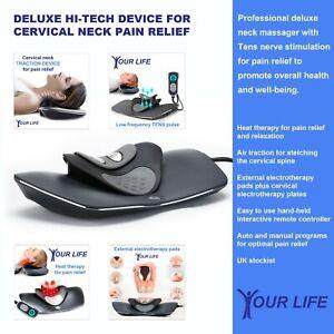 Cervical traction device | Neck massager | Tens Machine | Pain & Headache Relief