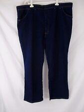 Wrangler Mens 50 X 30 Dark Blue Straight Leg Denim Jeans Pants CB52F