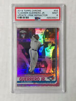 VLADIMIR GUERRERO JR 2019 Topps Chrome PINK SP RC! PSA MINT 9! REFRACTOR SP #58!