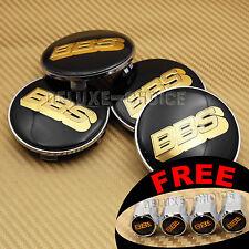 BLACK GOLD 3D LOGO CAR ALLOY WHEEL RIM CENTER CENTRE CAP HUB EMBLEM 60MM FOR BBS