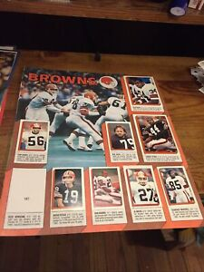 1986 Cleveland Browns Topps Football Sticker Loose Sheet With Player Stickers