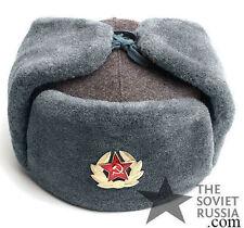 Vintage Ushanka Russian Soviet Army Military Uniform Winter Hat Original Surplus
