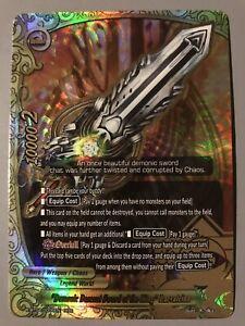 "FUTURE CARD BUDDYFIGHT ""DEMONIC DESCENT SWORD OF THE KING"" LAEVATEINN X-BT04 RRR"