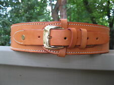 """Wine Color Genuine Leather Gun Belt 2 1//2/"""" Wide Sizes 34/"""" to 52 /"""""""