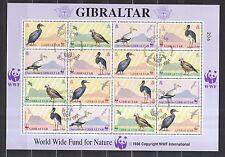 Gibraltar 1991 gestempelt Zd-Bogen MNr. 619-622  Weltweiter Naturschutz Vögel