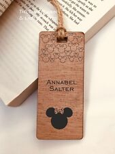 Minnie Mouse, Disney, Personalised Engraved Wooden Bookmark, Boys, Girls, Gift,
