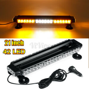 Universal 42 LED Emergency Traffic Advisor Double Side Warning Strobe Light Bar