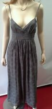 WITCHERY Size XS 8 Silk Metallic Lead Shoestring Long Dress NEW w/tags $249.95