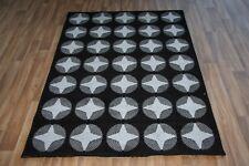 Large Black Grey White Star Print Rug 120cm x 170cm Stars Pattern Dazzle Rug
