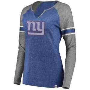 💥 Womans Majestic NFL Plus Size New York Giants Varsity Tee 1X NWT V-Neck 💥