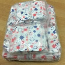 """Red and Blue Star PAPER BAGS SWEET FAVOUR BUFFET GIFT SHOP PARTY 4""""x4"""""""