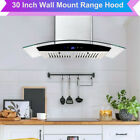 30 Inch Wall Mount Stainless Steel Range Hood Stove Exhaust Air Cook Fan Kitchen photo