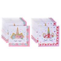 Servilletas de papel Unicornio 6pcs Decoración de fiesta de boda para ni*ws