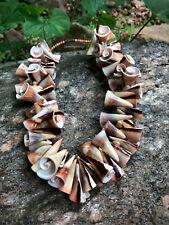 Vintage Large Shell Bead Choker Necklace Loaded w/ Shells Boho Summer