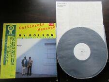 Benny Golson Curtis Fuller California Message Japan Promo Vinyl LP OBI 1981 Jazz