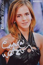EMMA WATSON - Autogrammkarte - Signed Autograph Autogramm Clippings Fan Sammlung