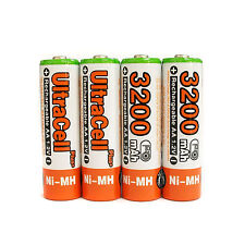4 pcs AA 3200mAh 1.2V NIMH Rechargeable Battery UltraCell Plus Orange US Stock