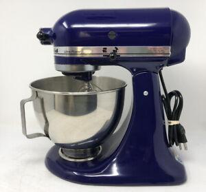Kitchenaid Stand Mixer Ultra Power Solid State Blue KSM90BU w/ Attachments