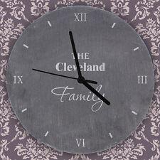 Personalised Kitchen Slate Clock Wedding New Home Anniversary Design Gift Ideas