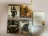 "Call Of Duty PS3 Video Game Bundle ""MW1"" ""MW2"" ""MW3"" ""Black Ops"" Advance Warfare"