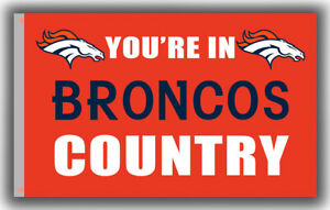 Denver Broncos You're in BRONCOS Country Football Flag 90x150cm3x5ft best banner