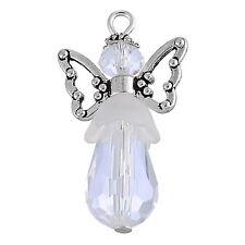 5PC New Charm Handmade Wing Pendants Guardian Angel Design White Hot