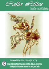 Calla Lillies embroidery kit - Design by Irene Junkuhn - Rajmahal art silk