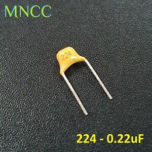 MLCC Multilayer Ceramic Capacitors 0.22uF (224) 20% 50V Monolithic Non Polarized