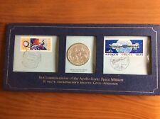 Timbres et médaille argent rencontre Apollo - Soyouz 17 juillet 1975
