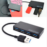 New 4-Port USB 3.0 Hub 5Gbps Portable Compact For Laptop Notebook PC Mac Desktop