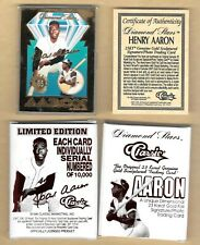 1996 Classic Hank Aaron 23 KT Gold Card Diamond Stars BOX & COA