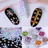 9 Boxes Nail Art Glitter Sequins Chameleon AB Color  3D Decoration Tips Tools