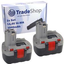 2x Akku 14,4V 3000mAh Ni-MH für Bosch PSB 14 PSB 14.4V PSR 14.4 PSR 14.4-2