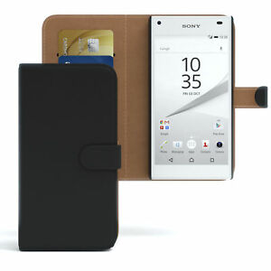Case for Sony Xperia Z5 Compact Case Wallet Protector cover Cover Black