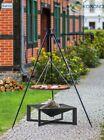 Korono Dreibein Schwenkgrill 1,8m, Rost Ø 80 cm, Feuerschale Ø 70cm, Handmade